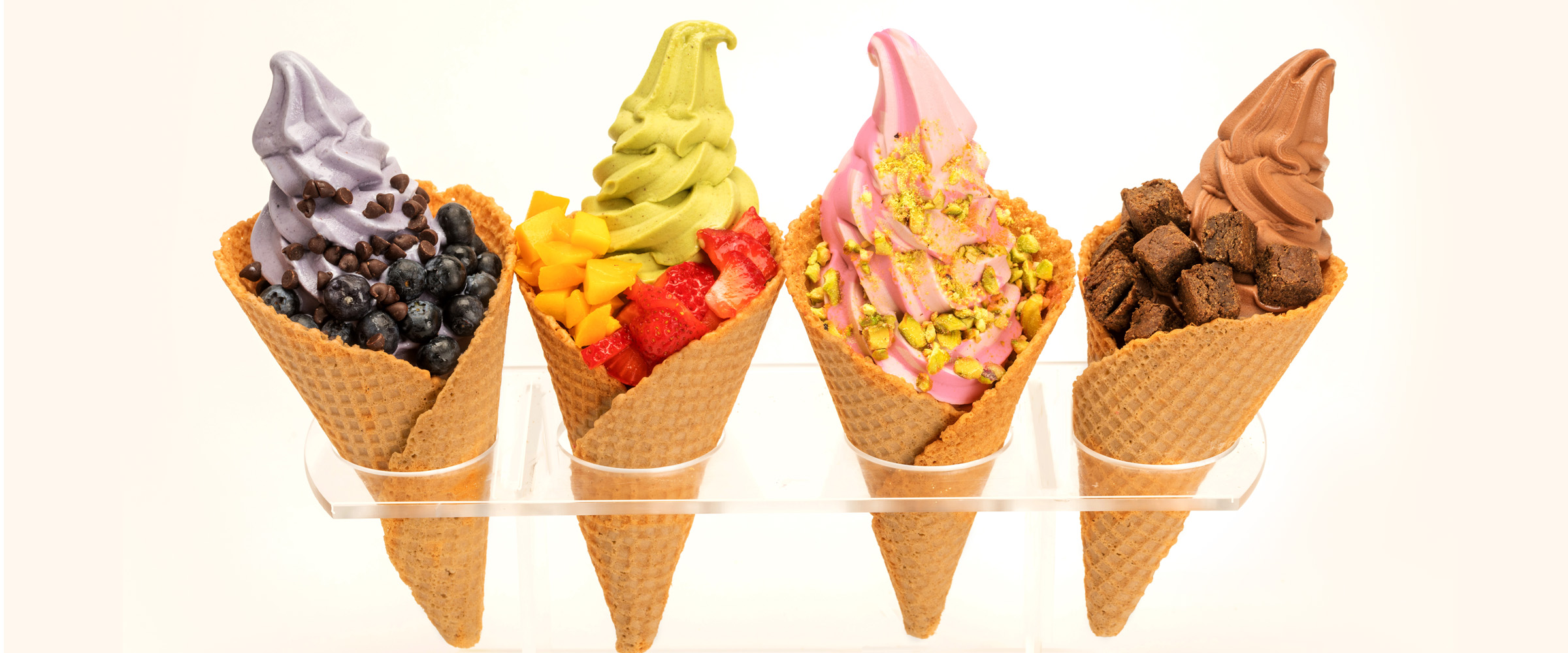 cones with toppings